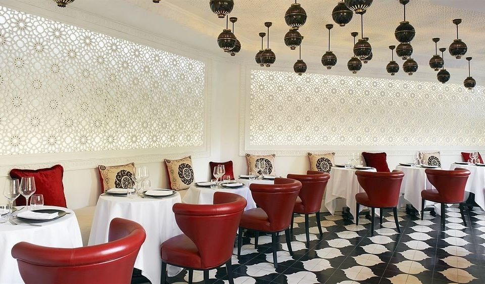 red restaurant function hall tiled