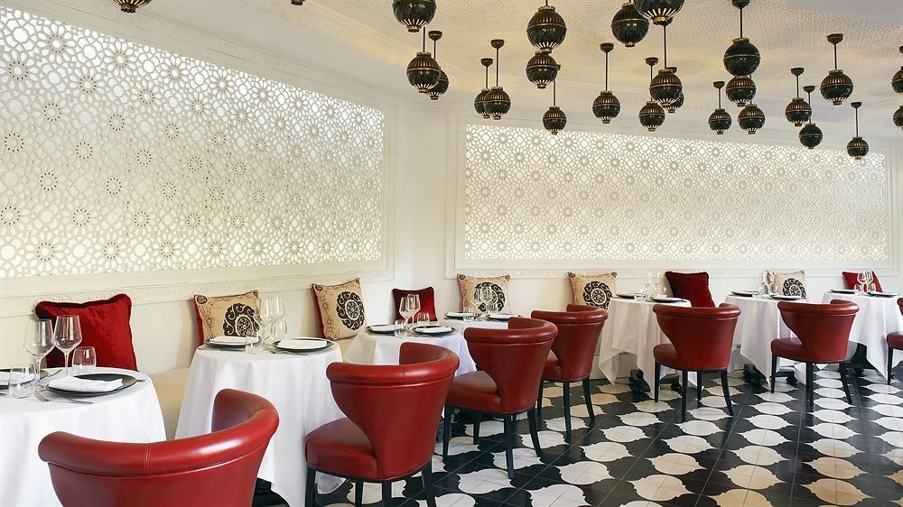 red restaurant function hall tiled