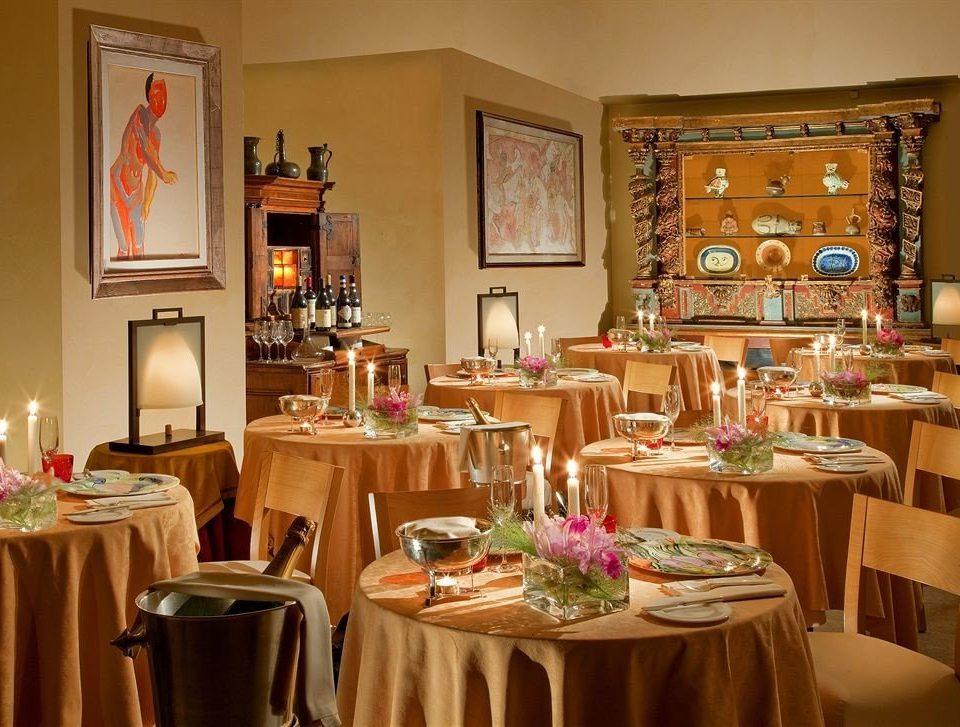 restaurant function hall set