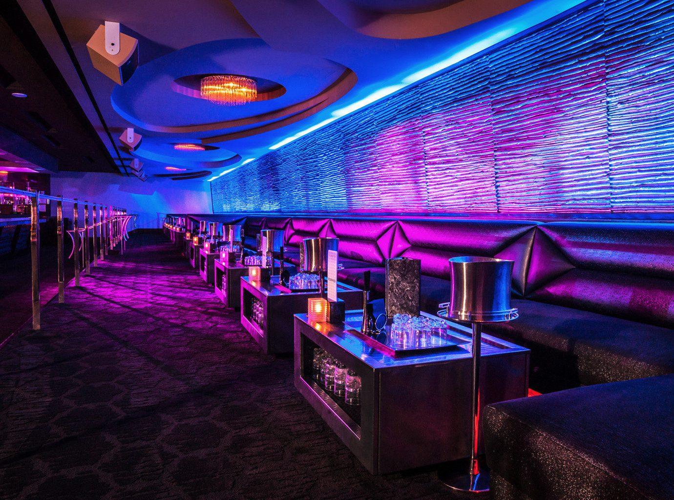 Bar Casino Drink Lounge Modern Nightlife Travel Trends Trip Ideas floor indoor nightclub room ceiling function hall music venue disco club purple furniture