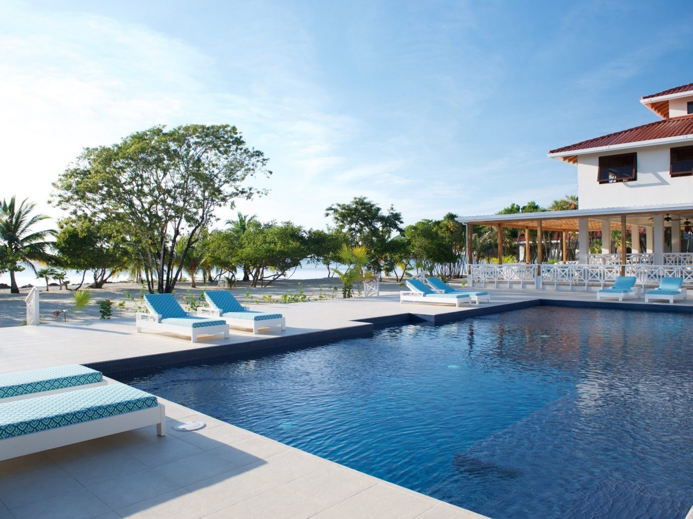 Pool At Naia Resort And Spa In Placencia, Belize