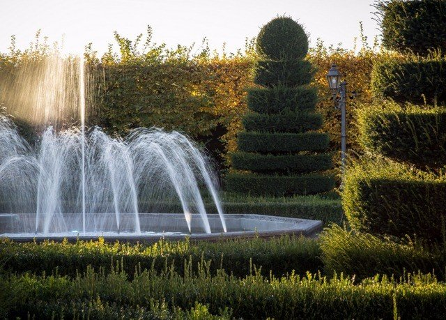grass sky tree botany fountain water feature plant landscape autumn Garden woodland shrub