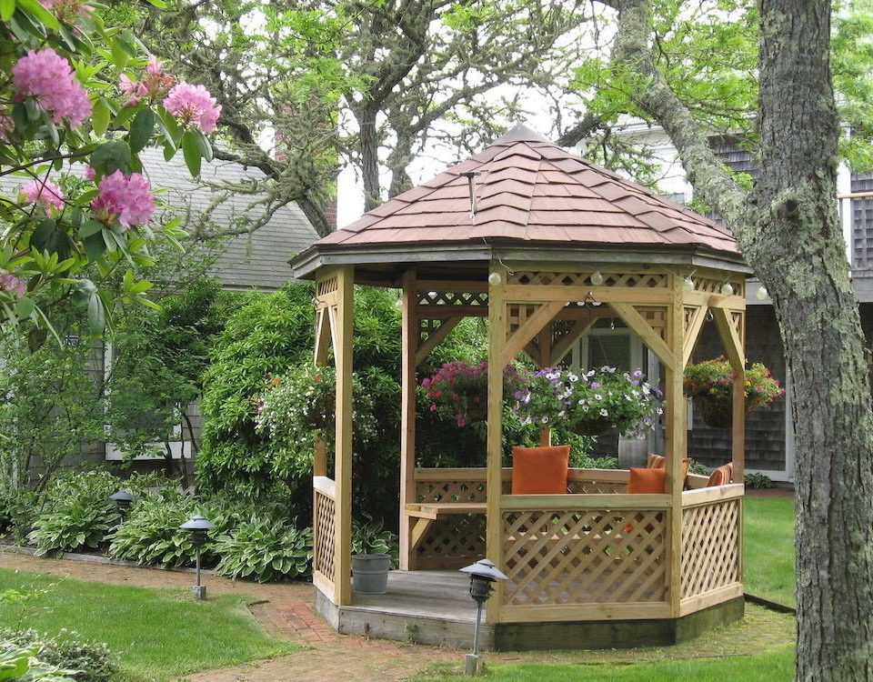 tree grass gazebo building botany outdoor structure park pavilion Garden backyard house