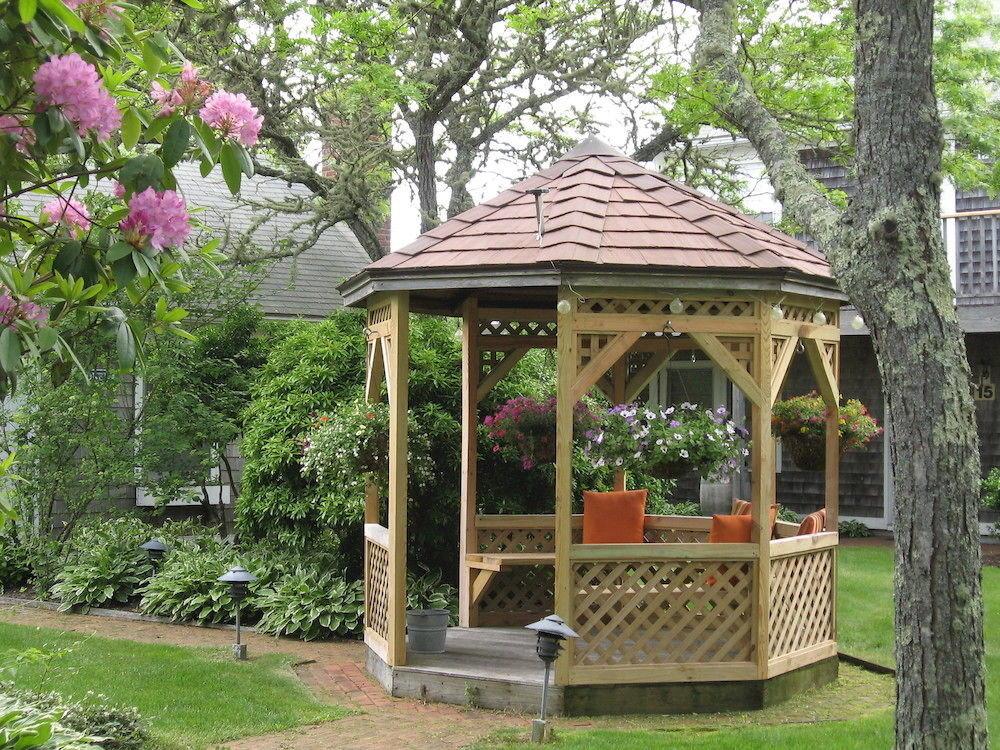 tree grass gazebo building botany outdoor structure park pavilion Garden backyard house
