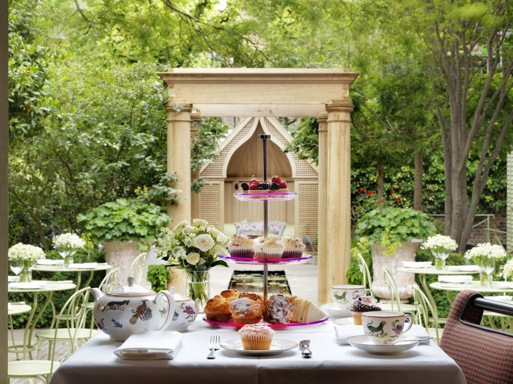 tree plate floristry backyard porch outdoor structure home Garden gazebo flower cottage yard dining table