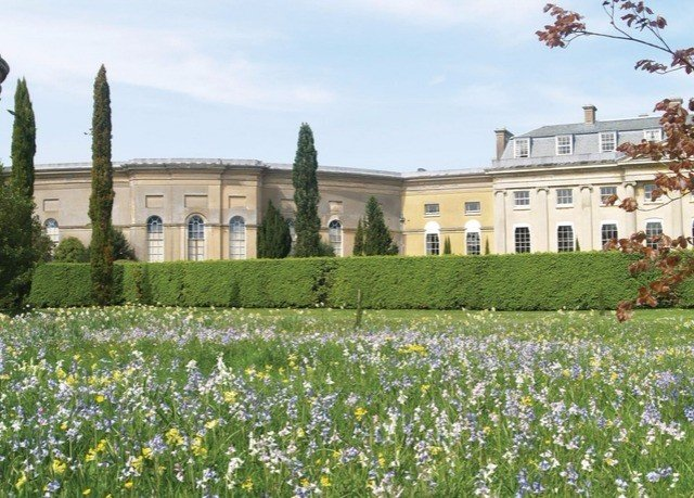 grass sky flower field plant stately home meadow green château Garden stone surrounded