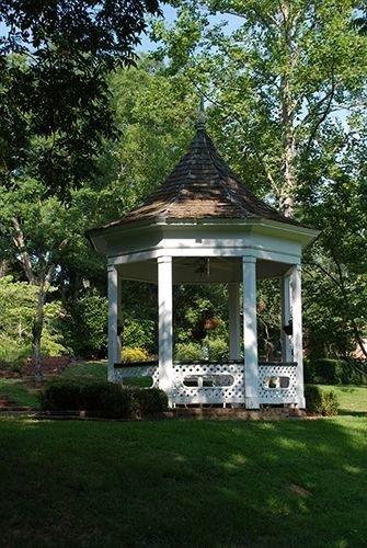 Garden Historic Inn tree grass building gazebo house outdoor structure pavilion green cottage home backyard shrine lush