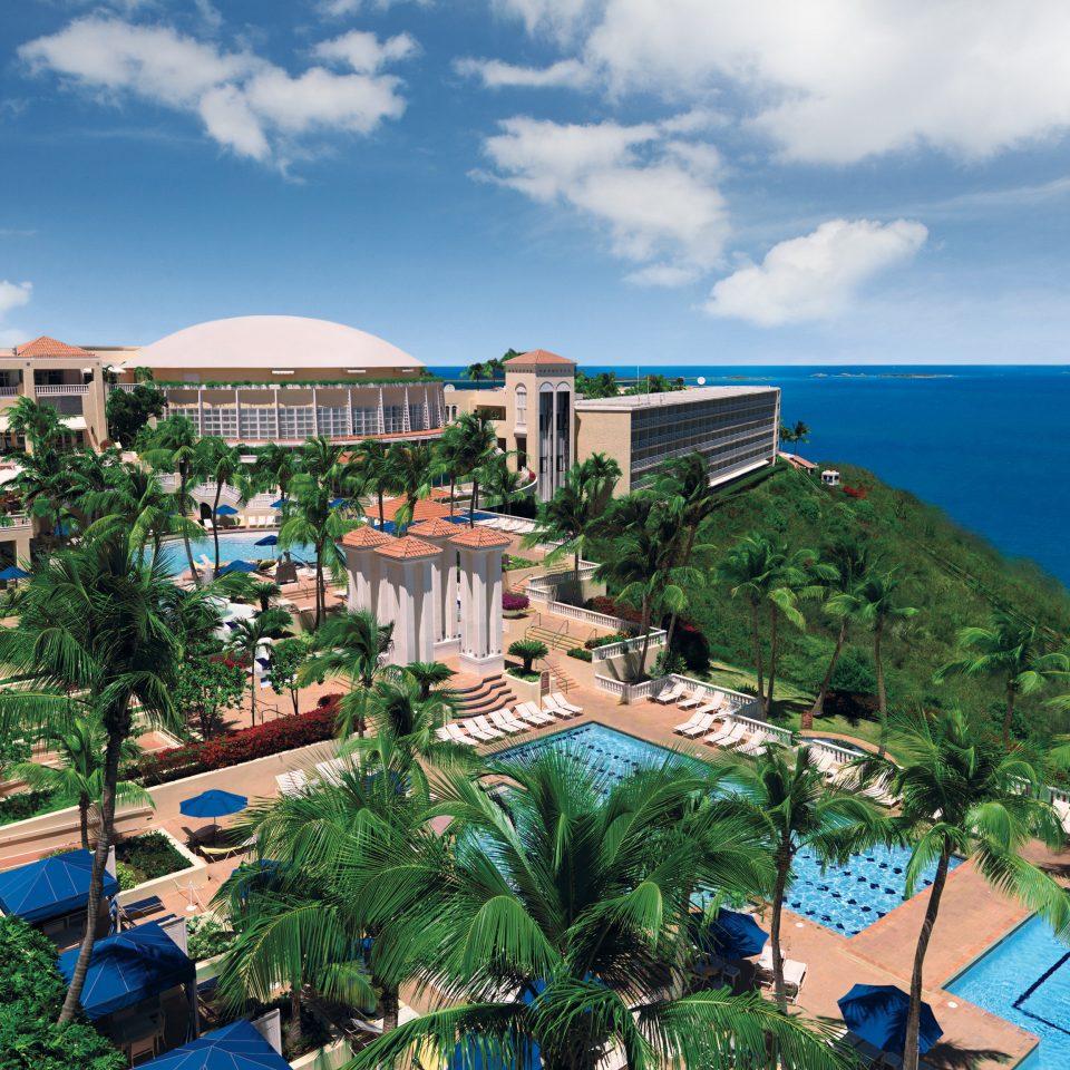 Hotels sky Resort Town residential area Sea condominium Garden day