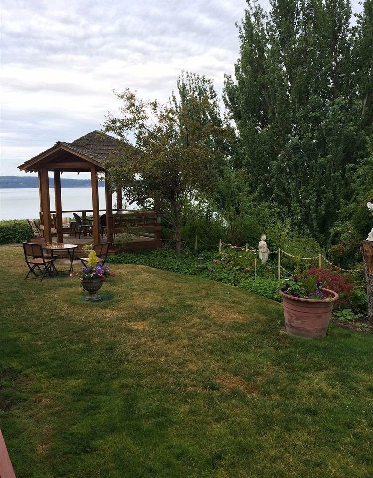 Garden Inn grass tree property yard backyard lawn home cottage outdoor structure Playground lush