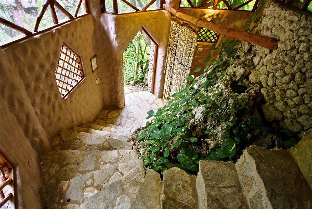 stone backyard Jungle Garden yard