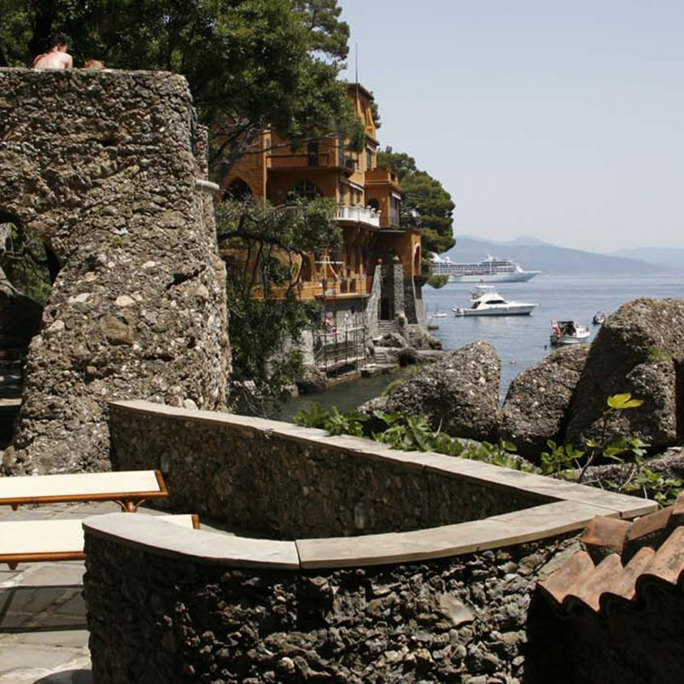 Luxury Terrace Waterfront rock stone Ruins ancient history sculpture terrain Garden Jungle