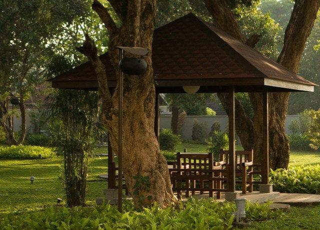 tree grass outdoor structure Jungle Resort cottage woodland Garden shrine lush shade