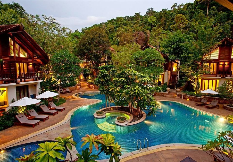 tree Resort property leisure swimming pool home mansion Villa backyard eco hotel Jungle colorful Garden lined
