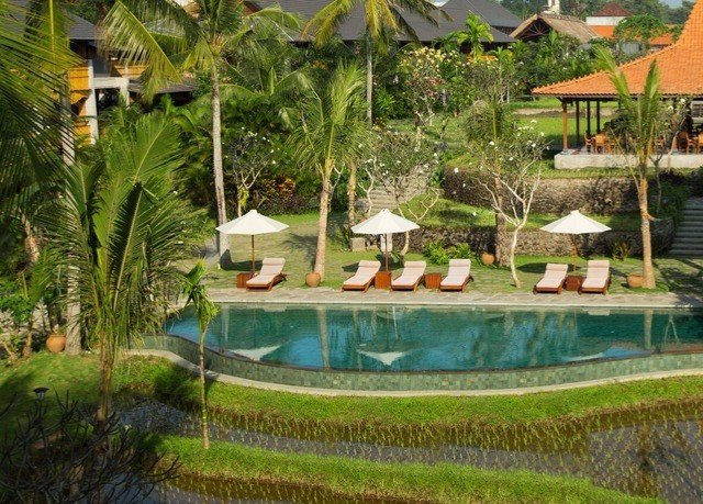 grass tree swimming pool Resort property backyard eco hotel Garden Villa pond Jungle