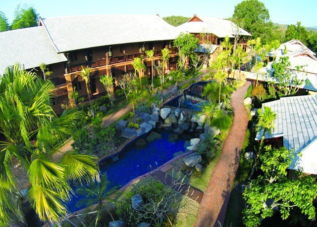 tree sky leisure property Resort swimming pool backyard plant Jungle Garden Village