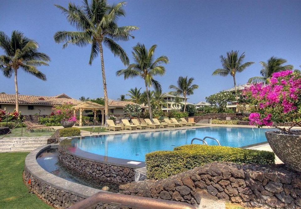 tree sky palm water rock swimming pool property Resort Villa stone Garden Lagoon Pool mansion condominium plant shore