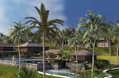 tree grass sky palm Resort plant arecales swimming pool palm family Lagoon Garden