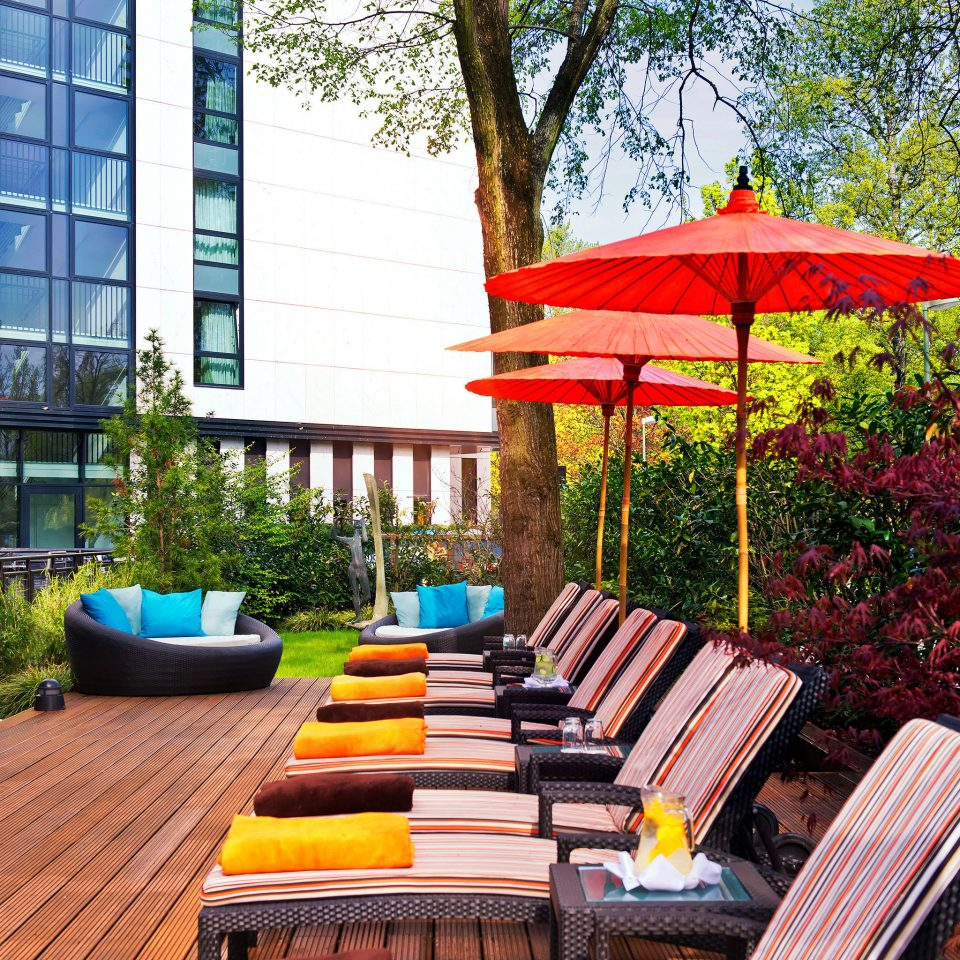 Lounge tree wooden backyard red outdoor structure home yard cottage colorful Garden