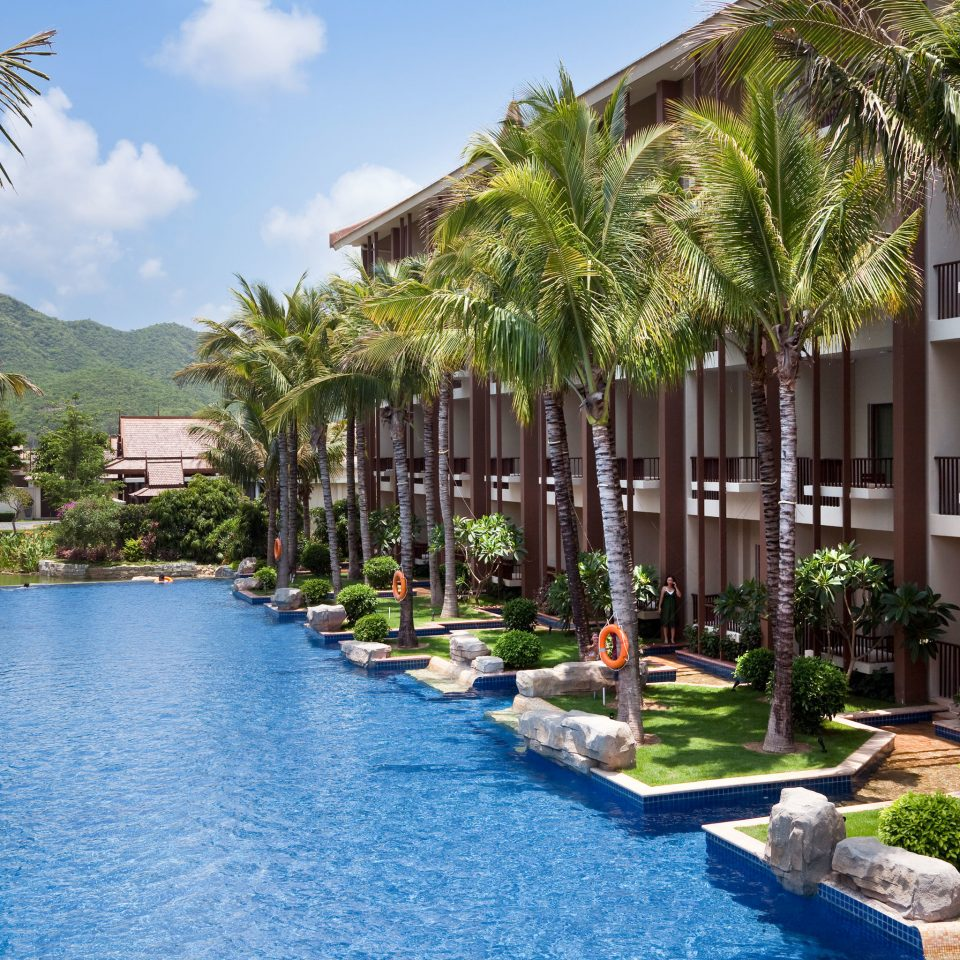 Mountains Play Pool Resort Scenic views tree sky property palm swimming pool arecales condominium Garden Villa backyard plant lined surrounded stone