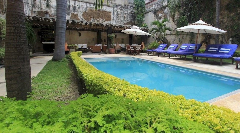 Garden Patio Pool Rustic grass tree swimming pool property Resort Villa backyard mansion cottage yard stone