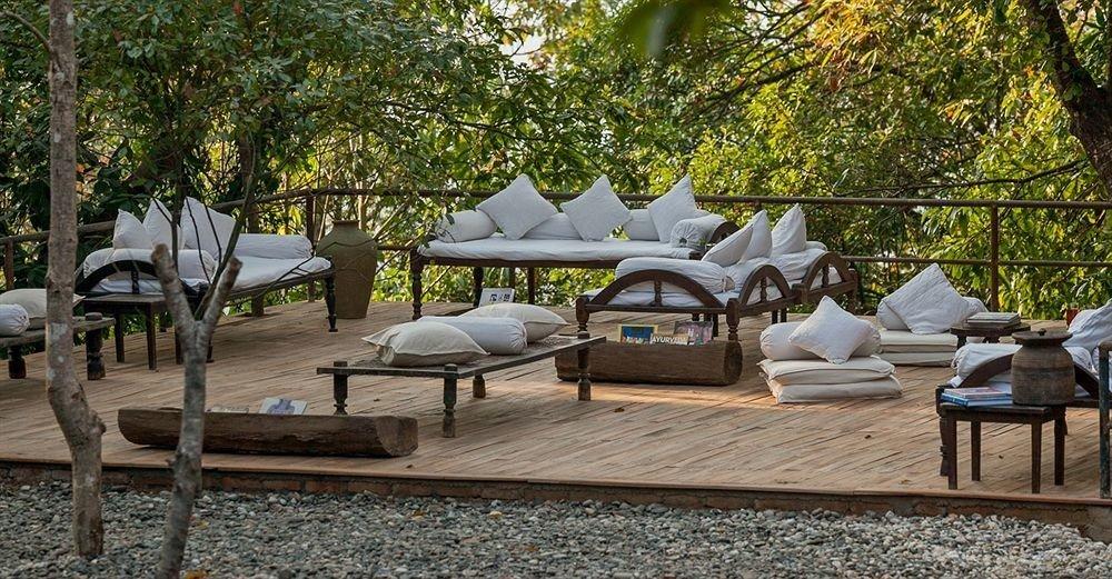 tree backyard home yard outdoor structure cottage Patio Villa Garden
