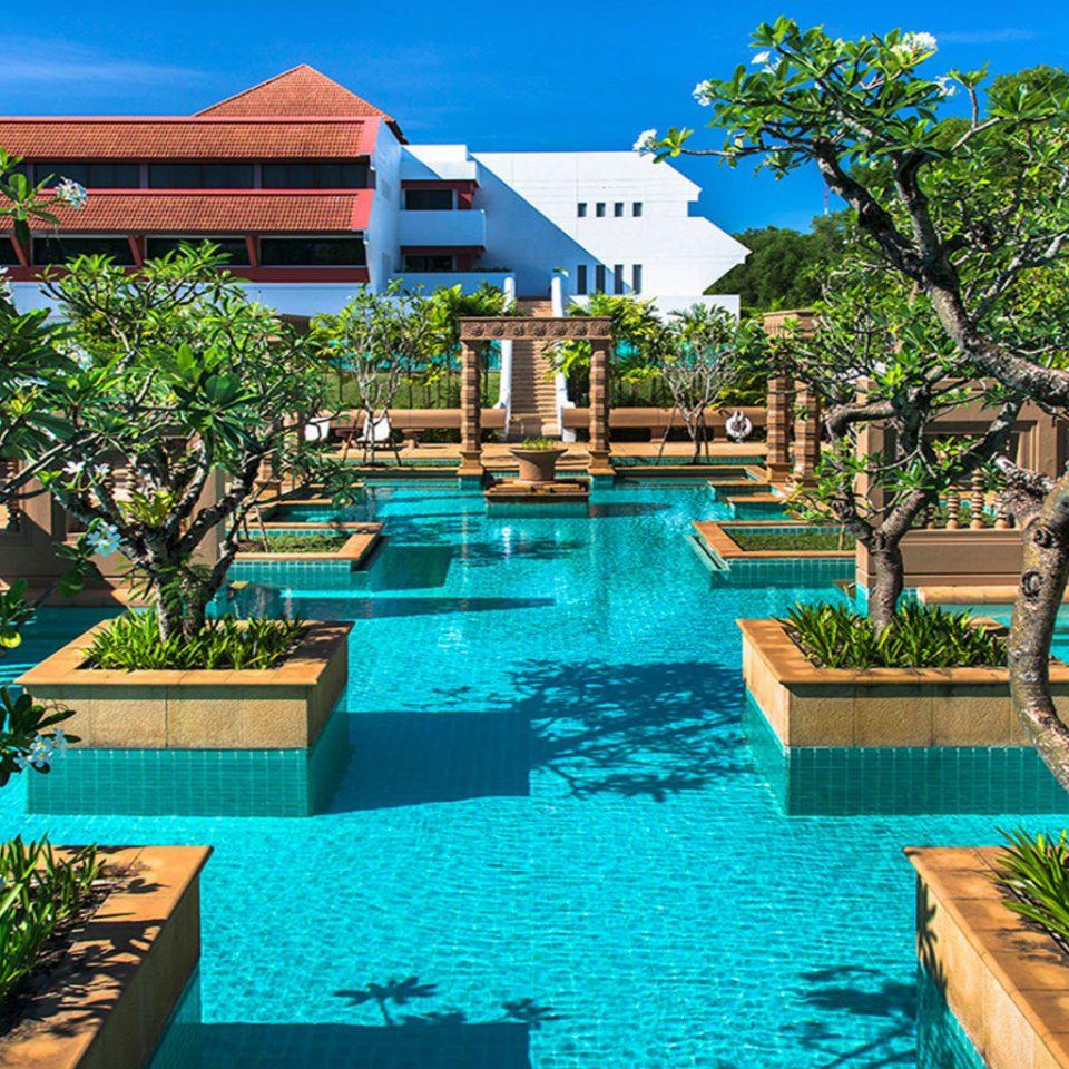 tree swimming pool Resort leisure property Pool backyard Villa lawn eco hotel plant Garden set lined shade swimming day