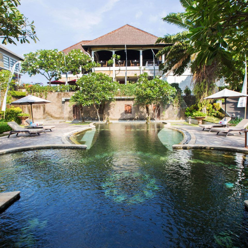 tree water swimming pool house property Resort backyard reflecting pool resort town Villa mansion home Pool Garden