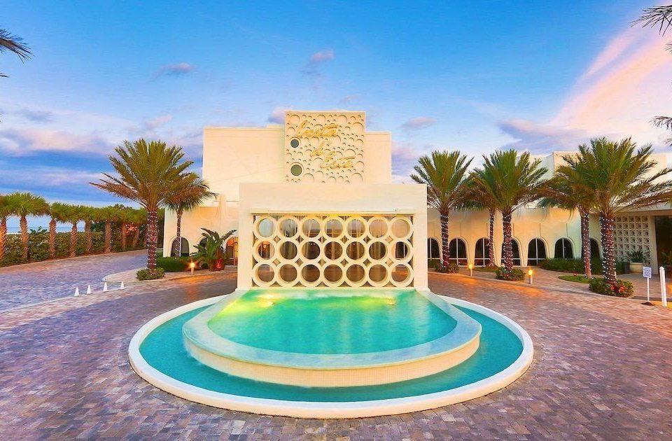 sky tree swimming pool leisure property Resort Pool hacienda Villa mansion Water park palm Garden