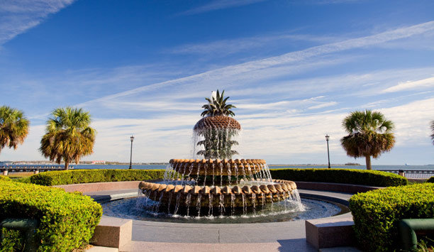 sky landmark flower water feature fountain tourist attraction water palm tree arecales reflecting pool plant Resort tree leisure landscape landscaping monument palm Garden stone