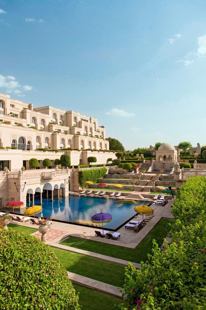sky building swimming pool house Resort palace mansion waterway Garden