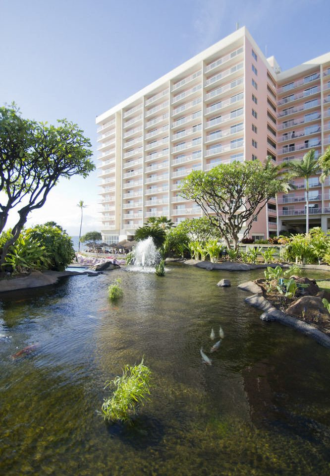 water sky grass River property condominium residential area reflecting pool waterway Garden tower block surrounded Resort