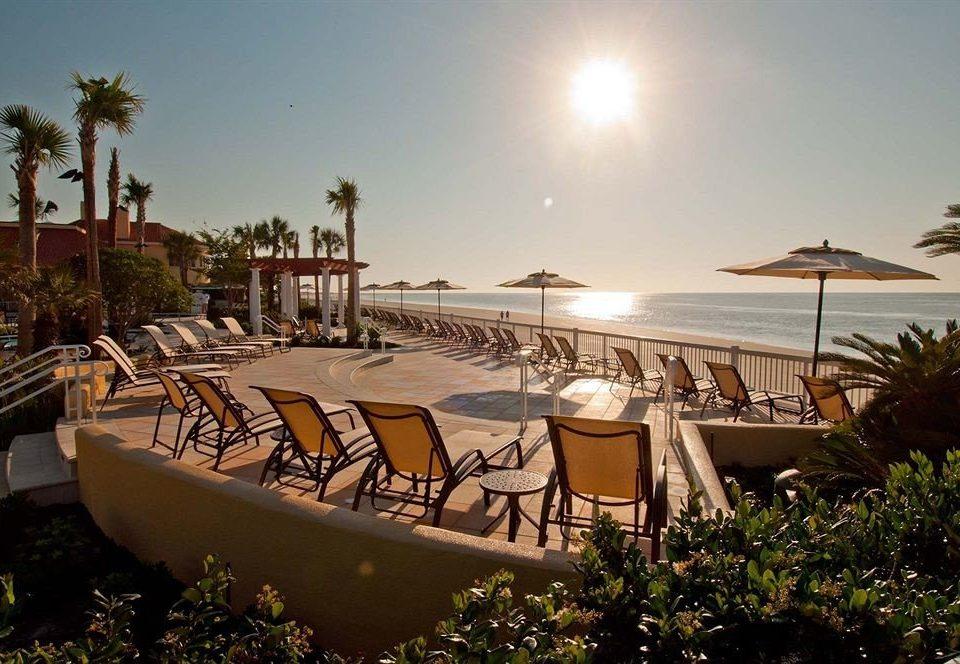 sky tree Resort marina lawn dock swimming pool Villa Sea plant Garden lined