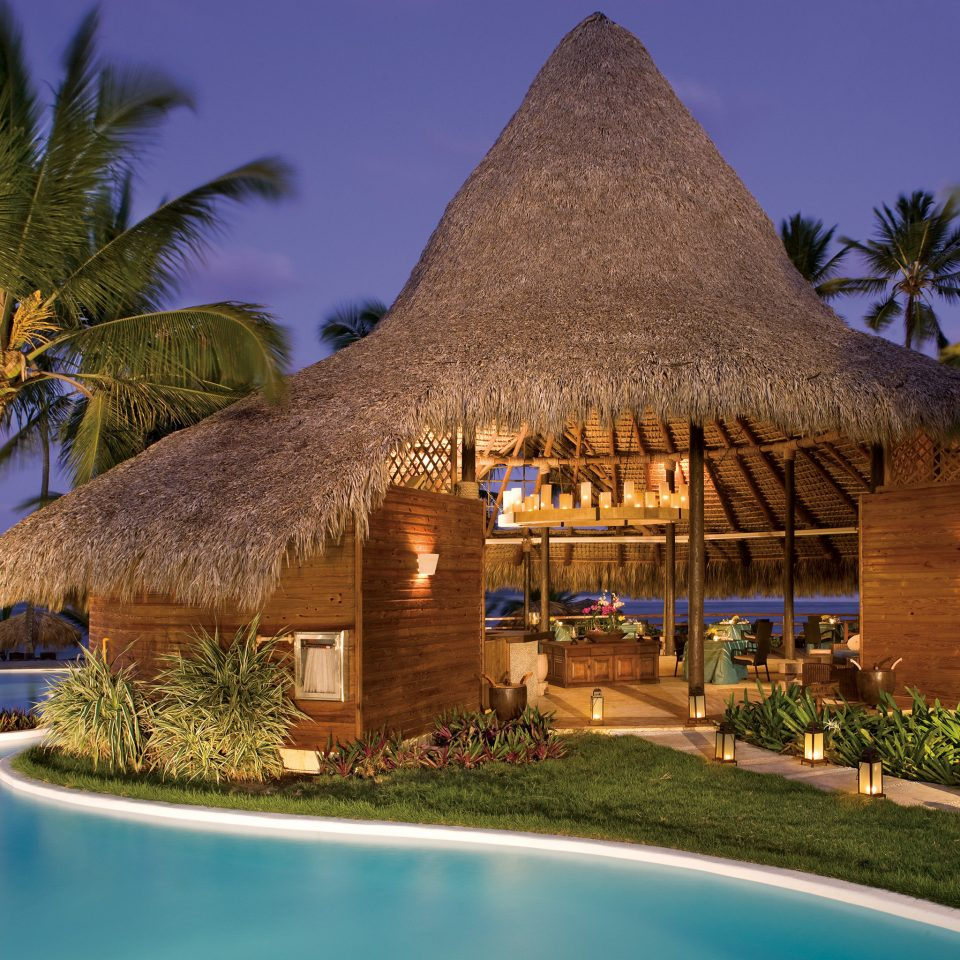 tree sky grass house Resort swimming pool palm arecales Villa home caribbean mansion plant Garden
