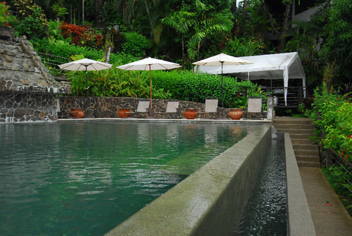 tree swimming pool property Resort backyard Garden Villa lined stone