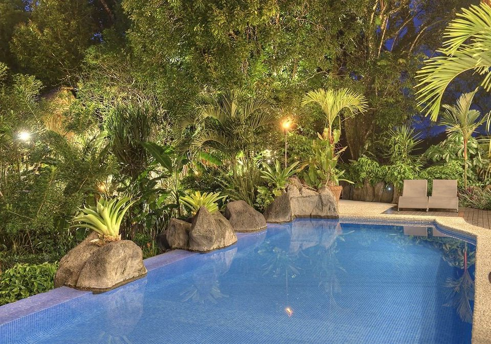 tree swimming pool property backyard reflecting pool pond Resort Garden Villa plant