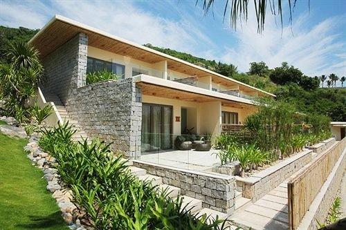 building property house Villa home cottage condominium Resort walkway stone Garden