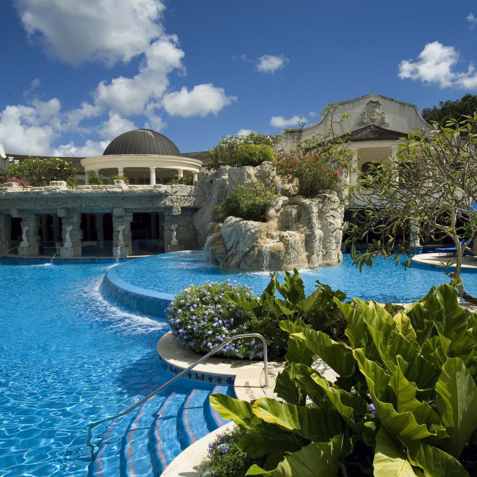 sky water swimming pool leisure property Resort mansion Villa Garden palace surrounded day