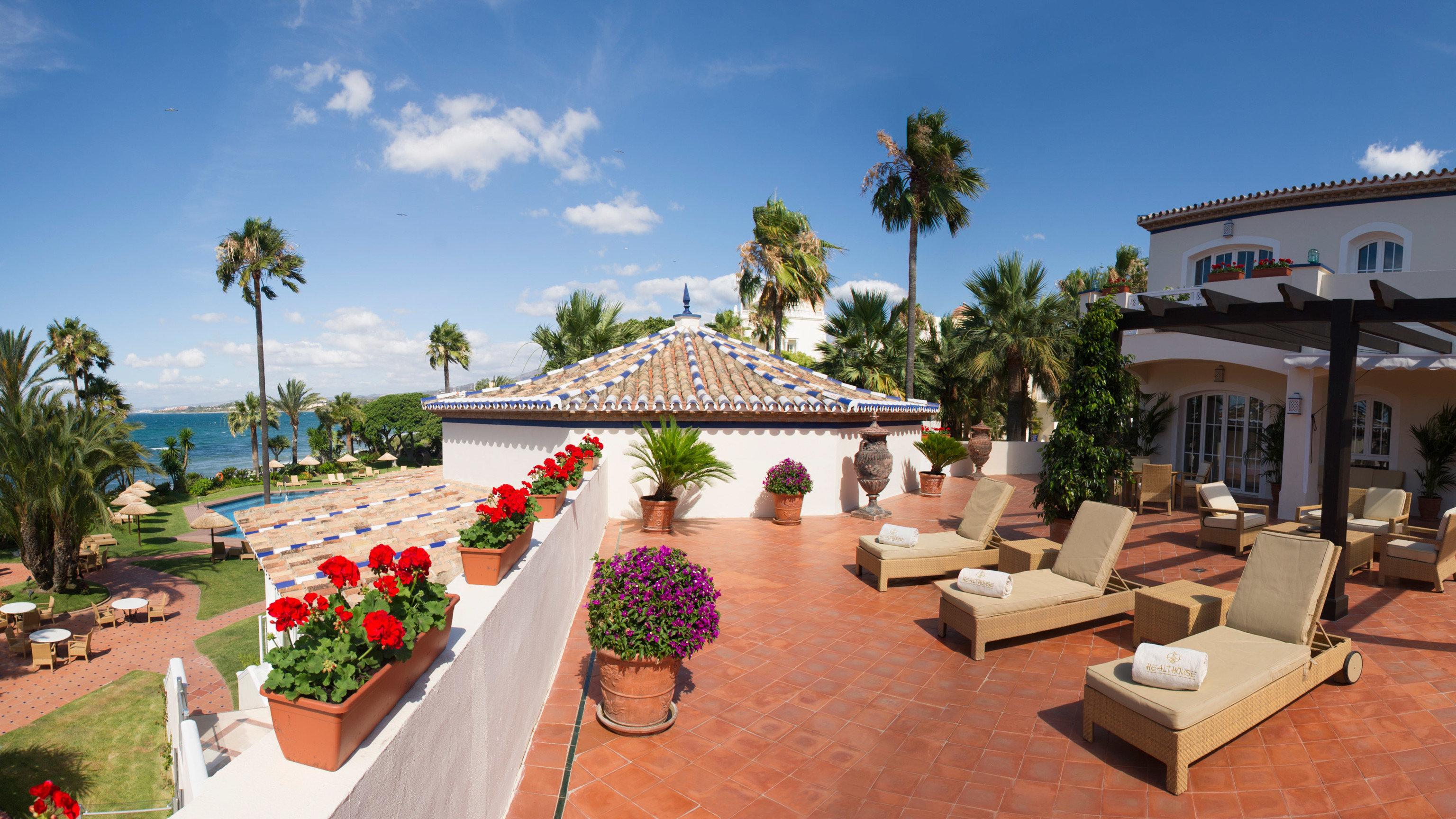sky leisure Resort palace hacienda Garden Villa plaza plant palm