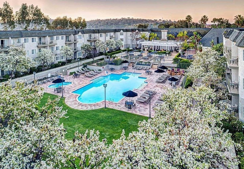 tree sky grass swimming pool property Resort aerial photography marina mansion condominium Water park Villa dock Garden
