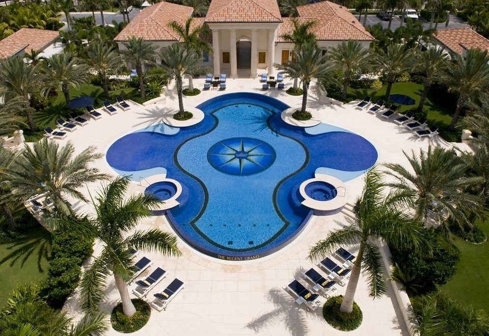 tree swimming pool plant Resort mansion backyard Water park Garden landscape architect condominium palm