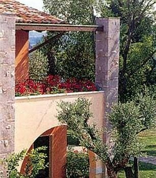 tree building property cottage arch home Villa Garden shrub house