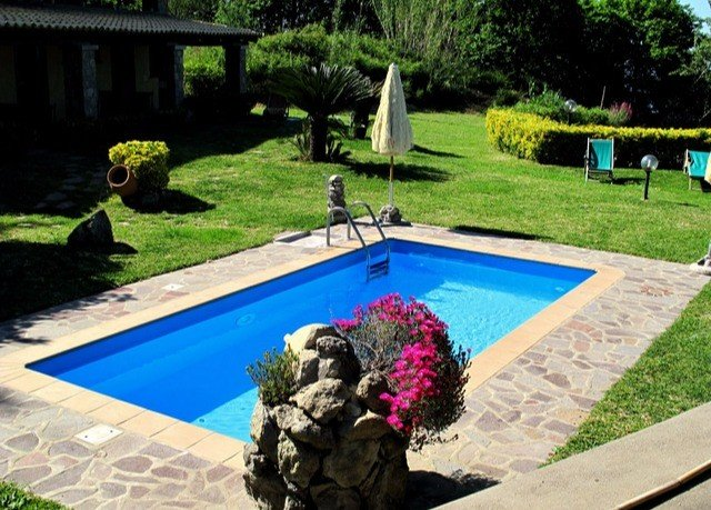 grass tree swimming pool leisure backyard Villa lawn yard Garden
