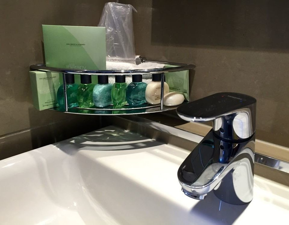 product shelf sink glass kitchen appliance