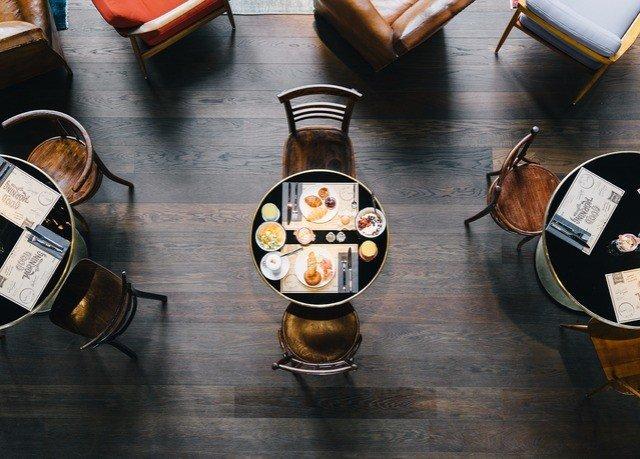 lighting wooden glass tableware