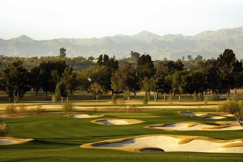 grass tree structure sport venue golf course sports golf club outdoor recreation Golf baseball field recreation day