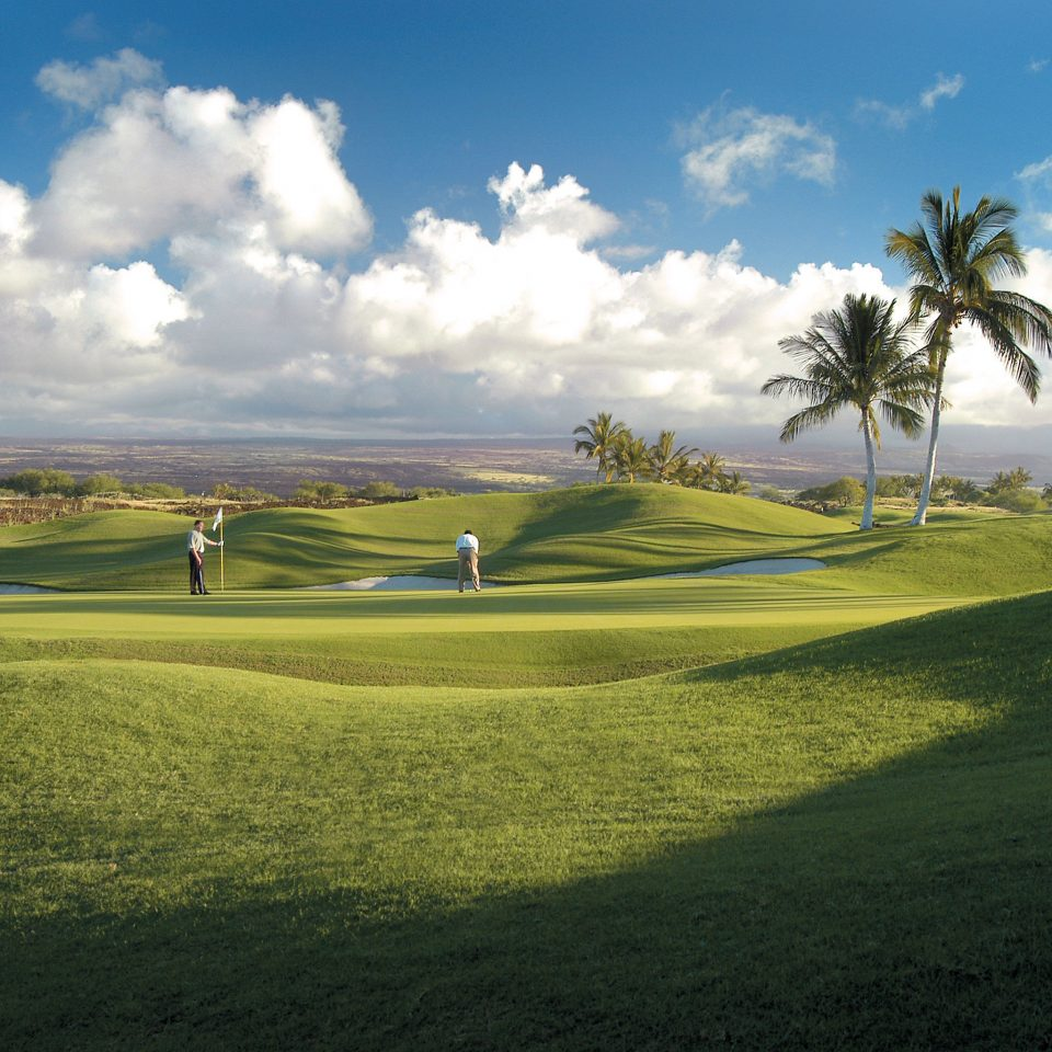 Golf Outdoor Activities Outdoors Resort Scenic views grass sky structure field grassland Nature sport venue sports hill golf course plain golf club outdoor recreation grassy rural area recreation meadow plant clouds lush day