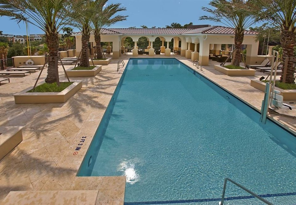 tree swimming pool property leisure Golf Pool Villa backyard reflecting pool Resort palm mansion home condominium