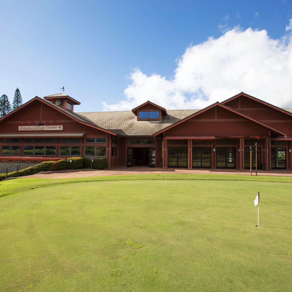grass sky structure field sport venue Golf Sport golf course lawn golf club green home sports grassy house