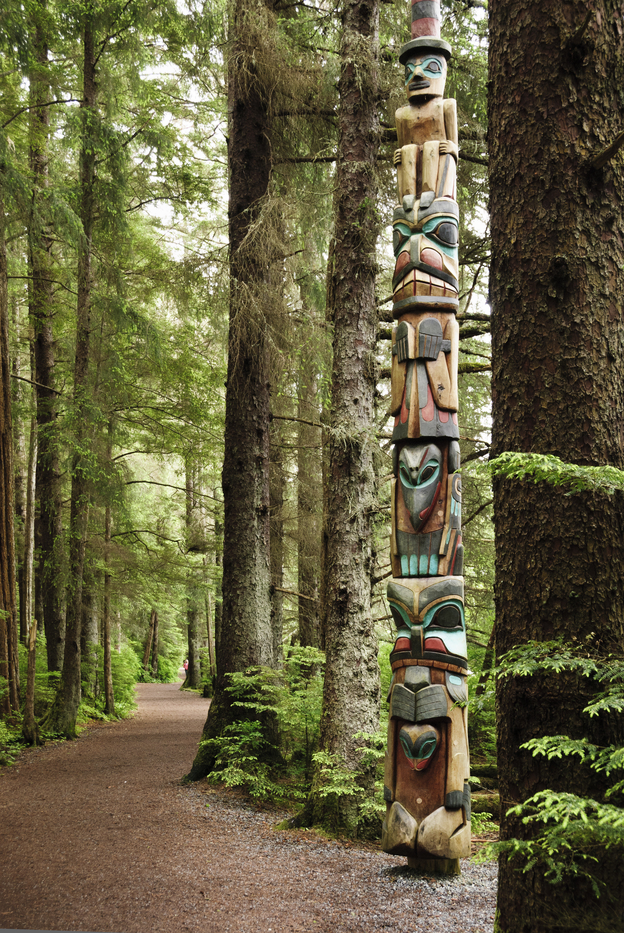 Trip Ideas outdoor object totem pole tree outdoor ground sculpture plant art Forest woody plant woodland wood outdoor structure totem path trunk wooded trail Garden dirt