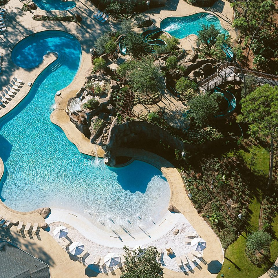 Grounds Hot tub/Jacuzzi Pool tree water amusement park park swimming pool aerial photography Water park outdoor recreation Resort recreation